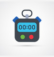 colored stopwatch trendy symbol vector image vector image
