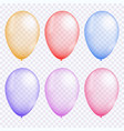 colorful balloon set vector image