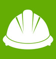 construction helmet icon green vector image vector image