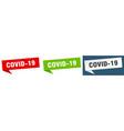 covid19-19 banner sign covid-19 speech bubble vector image vector image