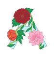 cute flower letter a floral monogram with vintage