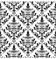 damask seamless pattern vector image vector image