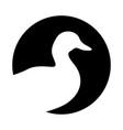 duck symbol vector image