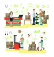 fast delivery concept in flat vector image vector image