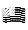 flag united states of america waving black vector image vector image