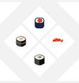 flat icon maki set of sushi salmon rolls eating vector image vector image
