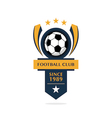 football Badge 4 vector image vector image