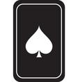 glossy mesh spades gambling card icon vector image