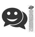 happy chat icon with work bonus vector image vector image