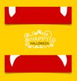 Happy Halloween design banners vector image vector image
