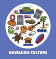 hawaiian symbols hawaii culture traveling and vector image