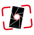icon or logo with a picture of a smartphone vector image vector image