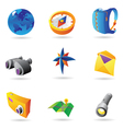Icons for travel vector image vector image