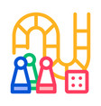 interactive kids board game thin line icon vector image vector image