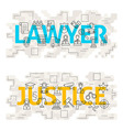Lawyer Justice Line Art Concept vector image vector image