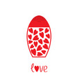 love card tube of cream with hearts inside body vector image vector image