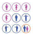 man and woman sign icon vector image vector image