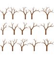 naked trees vector image