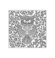 owl bird animal ornament vector image vector image