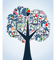 Property service icons tree vector image