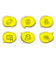 quick tips e-mail and chemistry lab icons set vector image vector image