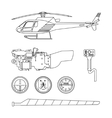 Repair and maintenance of the helicopter vector image vector image