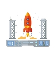 Rocket Startup Flat Desing Concept vector image vector image