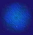 sacral geometry 3d design mandala vector image vector image