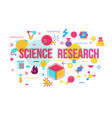 science experiment word concept banner design vector image