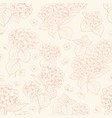 seamless floral pattern with hydrangea vector image vector image