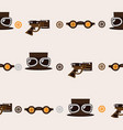 seamless square pattern with steampunk accessories vector image vector image