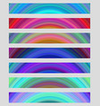 Set of colorful web banner backgrounds vector image