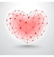 Shiny heart symbol with connections for Valentines vector image vector image