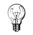 sketch hand drawn lamp vector image