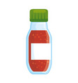 spices bottle isolated icon vector image