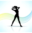 Sport fitness woman silhouette vector image vector image