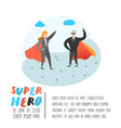 superhero business people characters poster vector image