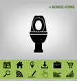 toilet sign black icon at vector image vector image