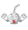 tongue out wrecking ball attached character on vector image