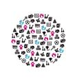 toys icons in circle vector image vector image