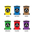 trash categories recycle garbage bin vector image vector image