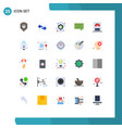 user interface pack 25 basic flat colors of vector image vector image