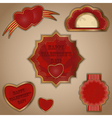 vintage love labels set for valentines day vector image vector image