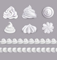 whipped cream set vector image vector image