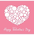 White heart made from many round dots Love card vector image