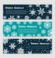 winter banners templates with snowfall and vector image vector image