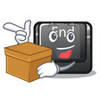 with box button end in shape character vector image