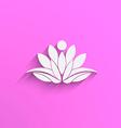 Yoga Lotus abstract vector image vector image