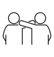 young friendship icon outline style vector image vector image