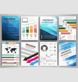 infographic icons and blue backgrounds vector image